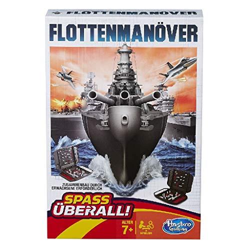 Hasbro Spiele B0995100 - Flottenmanöver Kompakt, Reisespiel