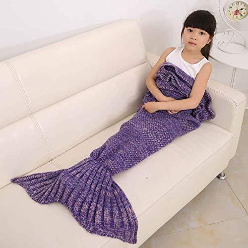 Hand-Crocheted Blanket Woven Mermaid Tail Blanket,Best Girl Gift Birthday