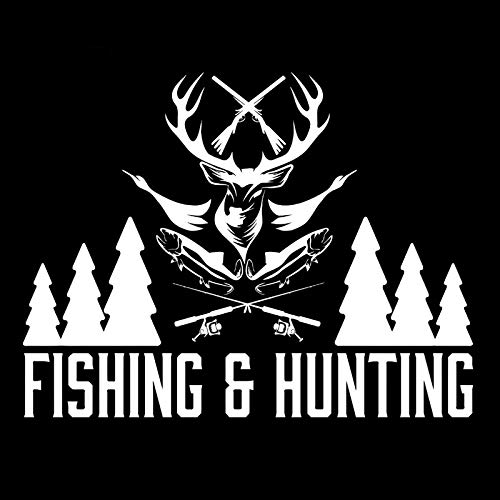 Field sports fishing car stickers hunting bike stickers (15.5 * 20cm) (Color : 2)
