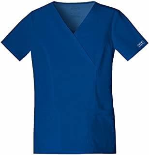 CHEROKEE Women's Workwear Core Stretch Mock Wrap Scrubs Shirt