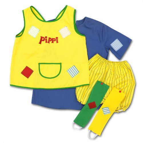 Glow2B Pippi Langstrumpf 44.3600.04 - Disfraz de Pipi Calzaslargas, a partir de 4 años