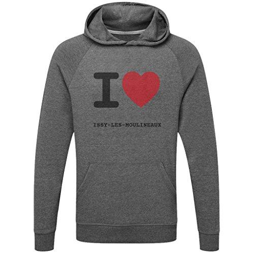 JOllify ISSY-Les-MOULINEAUX Funktions Pullover Hoodie mit hochwertigem Druck für Sport und Freizeit - Größe: M - Farbe: grau Charcoal