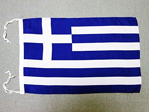 AZ FLAG Flagge GRIECHENLAND 45x30cm mit Kordel - GRIECHISCHE Fahne 30 x 45 cm - flaggen Top Qualität