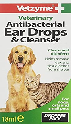 Vetzyme Antibacterial Ear Drops and Cleanser, 18 ml by Bob Martin