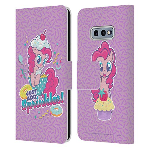 Head Case Designs Officially Licensed My Little Pony Pinkie Pie Candy Clash Leather Book Wallet Case Cover Compatible with Samsung Galaxy S10e