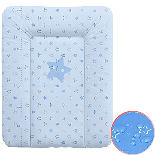 Wickelauflage Wickelunterlage Wickeltischauflage 70x50 cm Abwaschbar - Blau 70 x 50 cm