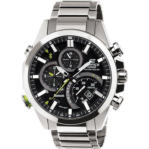 Casio Reloj Cronógrafo para Hombre de Energía Solar con Correa en Acero Inoxidable EQB-501D-1AER