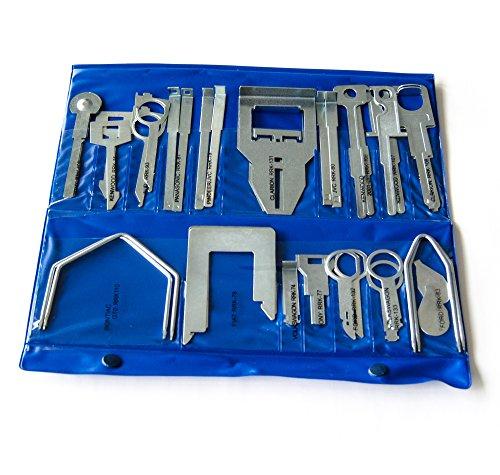 Autoradio Ausbauwerkzeug Entriegelung Schlüssel Sortiment, 36-teiliges