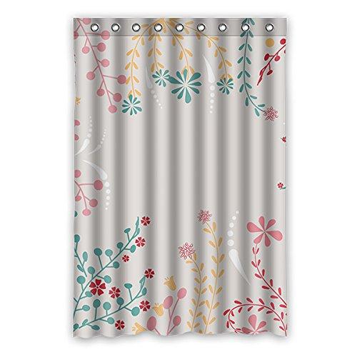 Einmal Young weiß Blumen Muster Custom orange Wasserdicht Polyester-Badezimmer-Dusche Vorhang 121,9x 182,9cm (120x 183cm), Polyester, K, 48