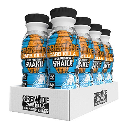 Grenade Carb Killa Cookies and Cream High Protein Shake, 8 x 330 ml
