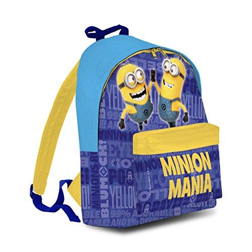 BAKAJI Zaino Americano Minions Cattivissimo Me Mochila Infantil 40 Centimeters Azul (BLU)
