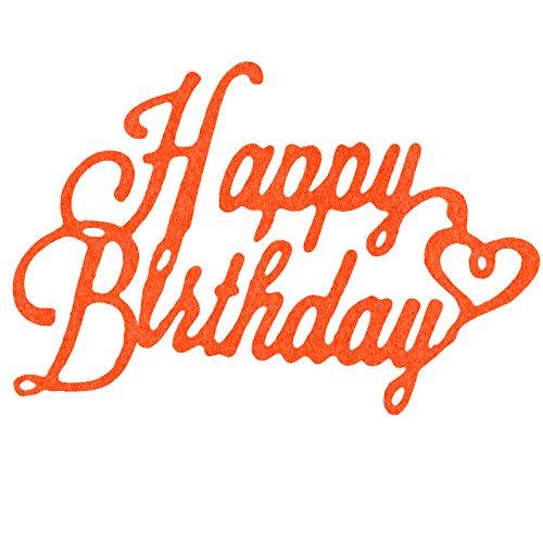 OOTSR Happy Birthday Troqueles de Corte, Plantillas Decorativas DIY Scrapbooking Papel Craft Arte de Tarjeta de Cumpleaños para álbum de Recortes