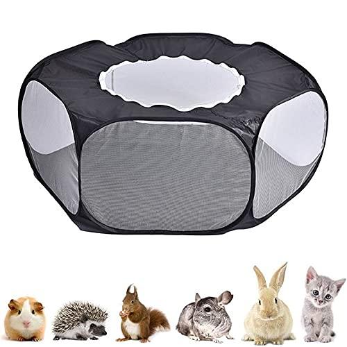 Tienda de Jaula Transpirable, Jaula Portátil Plegable para Mascotas, Parque Juegos Animales Pequeños, Tienda de Jaula para Animales Pequeños, para Conejos, Hámsters, Chinchillas