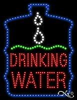26x20x1インチ 水を飲む 動物の点滅 LED ウィンドウサイン