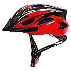 Strauss Cycling Helmet (Black/Red),Dyanmic IT Solution Private Limited,ST-1555