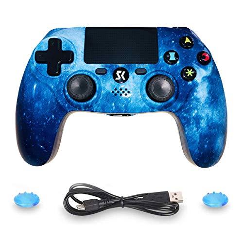 JL Future PS4 Manette de jeu haute précision pour PS4, contrôleur DoubleShock compatible avec Playstation 4/Slim/Pro