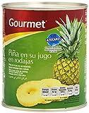 Gourmet - Pia en su jugo en rodajas - Sin azcares aadidos - 820 g - , Pack de 6