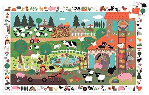 Djeco – 85616 – puzzelobservatie – boerderij – 35 delen