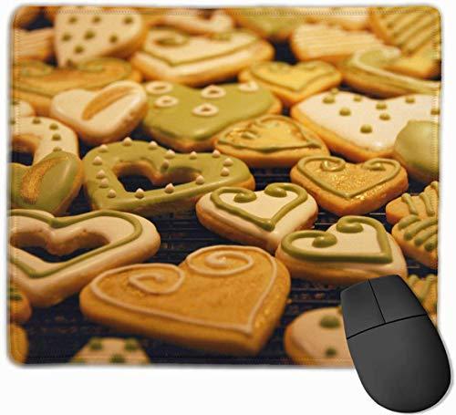 rutschfeste Mausunterlage Rechteckiges Mousepad aus Gummi Kekse Matcha Choco Print Gaming Mouse Pad