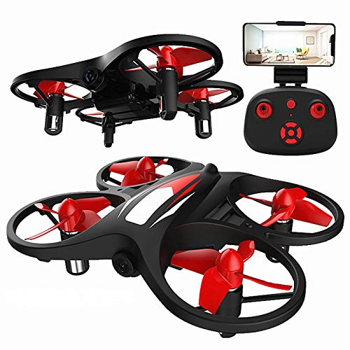 KELEQI Mini Drone, Beginners RC Live Video Quadcopter, 2.4G WiFi Drone for Kids, with Camera WiFi Real-Time Transmission Gravity Sensor Voice Control Altitude Hold Headless Mode APP Control