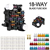 Jiaying 18-Way Fuse Box Holder 30A Per Circuit with LED Indicator for Automotive Car Boat ...