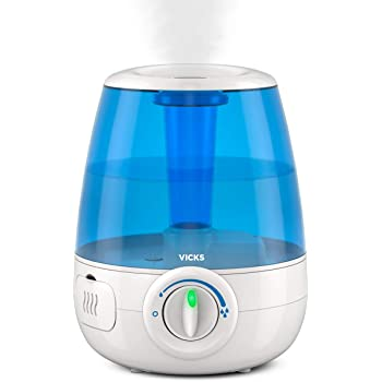 Vicks Filter-Free Ultrasonic Visible Cool Mist Humidifier for Medium Rooms, 1.2 Gallon With Auto Shut-Off, 30 Hours of Moisturized Air, Use With Menthol Scented Vicks VapoPads