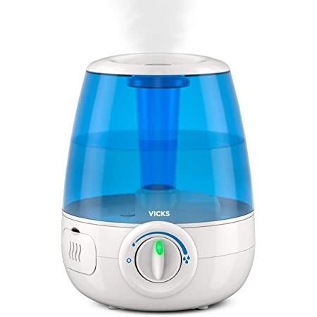 Vicks Filter-Free Ultrasonic Cool Mist Humidifier, Medium Room, 1.2 Gallon Tank-Humidifier for Baby and Kids Rooms, Bedrooms and More
