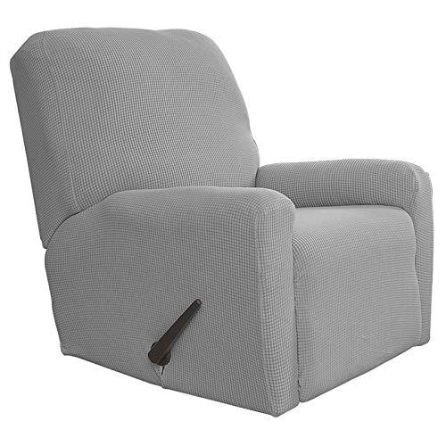 Greatime Fernsehsessel Stretch Sofabezug Sofaüberwurf Möbelschutz Sofaüberzug Couchbezug Couch Schild Sofahusse Weich mit Gummiband(Hellgrau,Fernsehsessel)