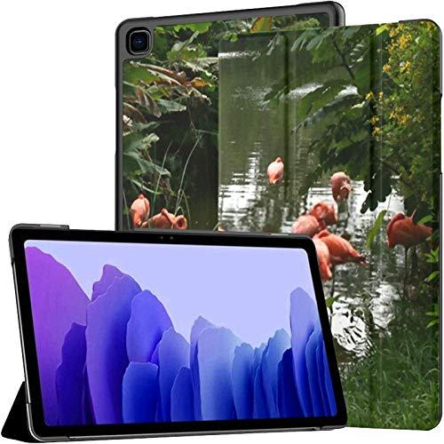 Funda para Tableta Samsung A7 Funda Pink Flamingos para Samsung Galaxy Tab A7 10,4 Pulgadas Funda Protectora de liberación 2020 Funda Samsung Galaxy A7 Funda para Tableta Funda de Cuero PU