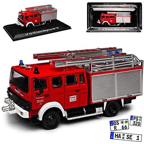 Magirus Iveco LF 16-TS 90-16 Feuerwehr Kaufbeuren 1/72 Atlas Modell Auto