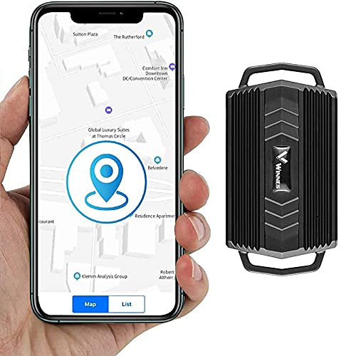 Localizzatore auto GPS Tracker,3000mAh Impermeabile Tempo Reale GPS Locator Professional Anti-perso GPS Allarme Car Tracker per Auto Camion Moto Nave Flotta GPS AGPS Doppio Posizionamento