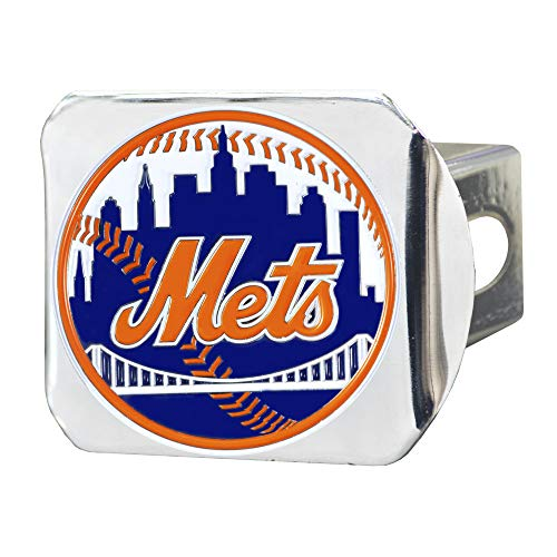 FANMATS 26654 MLB - New York Mets Color Hitch Cover - Chrome