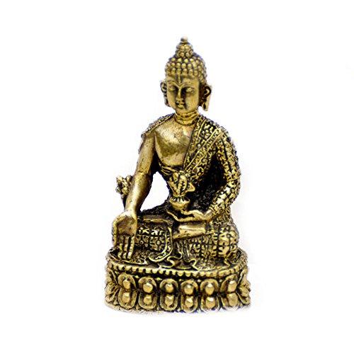 Vietguild's Meditating Buddha Bronze Figurine Statue Amulet