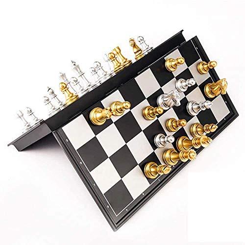 SJYSD-Bath Mat Juego de Tablero de ajedrez magnético, Tablero de ajedrez Educativo portátil Plegable, para niños y Adultos, Juego de Entretenimiento, Juguetes, Regalo, 32 * 32 * 2 cm