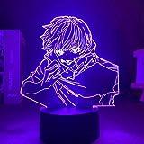 Regalos del Día de la Madre Anime Jujutsu Kaisen Luz Satoru Regalo de Vacaciones Manga Dormitorio Decoración Lámpara de Mesa 3D Lámpara Satoru ERJIE