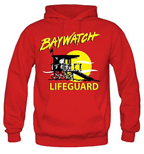 uglyshirt87 Baywatch Kapuzenpullover | David Hasselhoff | Fun (XL)