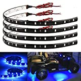 car led lights underbody - EverBright 4-Pack Blue Led Strip Lights for Cars, 30CM 5050 12-SMD Waterproof Car Underglow Lights Motorcycles Golf Cart Decoration Led Interior Exterior Lights Strip with 3M Tape, DC-12V