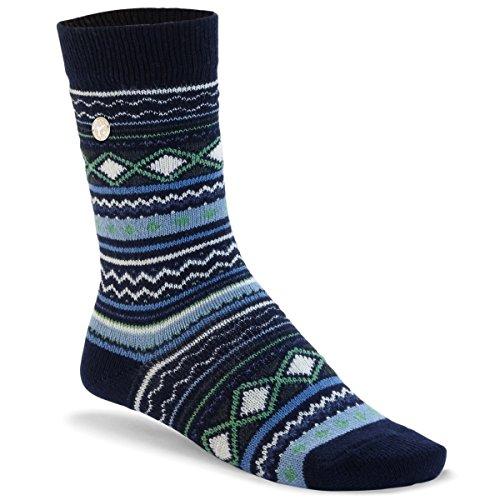 BIRKENSTOCK Fashion Ethno wärmende Socke aus hochwertiger Wollmischung im angesagten farbenfrohen Ethno Look Blau (Navy), EU 36-38