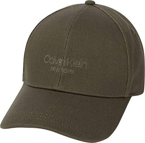 Calvin Klein Herren Bb Cap Baseballkappe, Dark Olive, Einheitsgröße