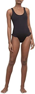 Kenneth Cole REACTION Women's Scoop Neck Ruffle Mio One Piece Swimsuit