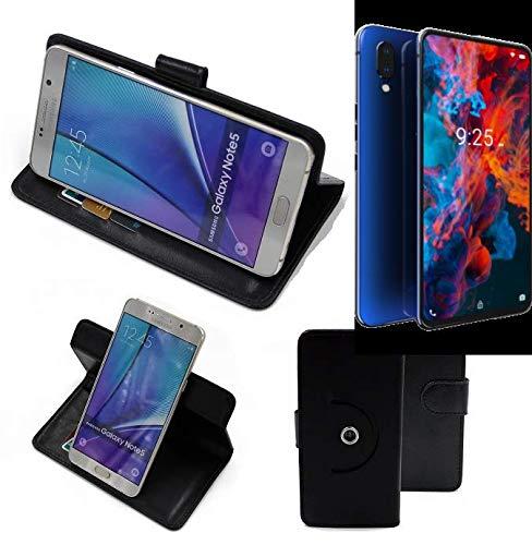 K-S-Trade Handy Hülle Für Archos Diamond 2019 Flipcase Smartphone Cover Handy Schutz Bookstyle Schwarz (1x)