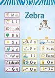Zebra 1  Poster Schreibtabelle Strategie  Grundsch