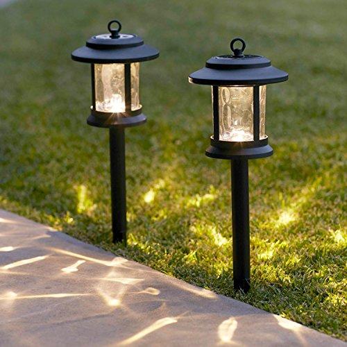 Lights4fun 2er Set Solar Laternen Stableuchten Garten Tischleuchte