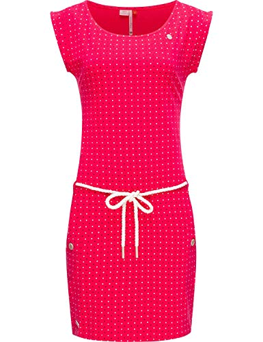 Ragwear Damen Kleid Baumwollkleid Sommerkleid Jerseykleid Tag Dots Raspberry20 Gr. S