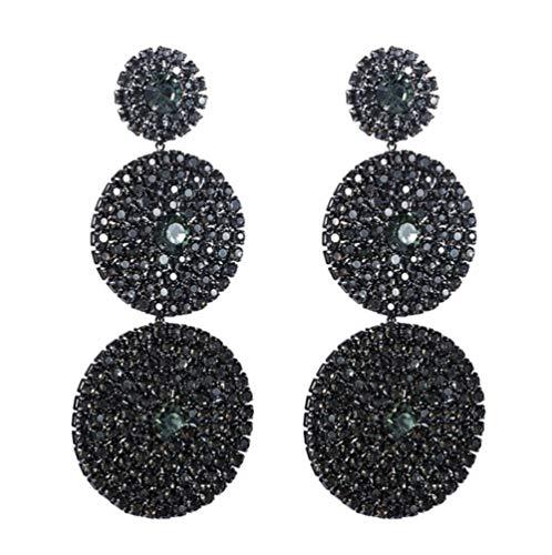 Vvff Pendientes Colgantes Redondos Multicapa Exagerados Para Mujer, Pendientes Colgantes Geométricos Con Diamantes De Imitación Brillantes, Regalos De Joyería Para Fiestas