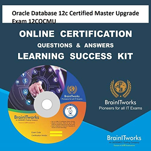 Oracle Database 12c Certified Master Upgrade Exam 12COCMU Online Video Certification Learning Made Easy
