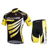Ropa Ciclismo Verano para Hombre y Mujer - Cornasee Conjunto de Ciclismo Maillot y Gel Pantalones Cortos