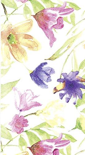 Mitteldecken Lucy – Gemalte Blumen/Blumen aus Airlaid 80x80cm