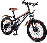 Aoyo Kinderfahrrad 20 Zoll mit Variabler Geschwindigkeit Red Mountain Bike, bequemer Sattel, rutschfestes Pedal Rennrad, Federgabel, sicher und einfühlsam Brake, (Color : Orange)