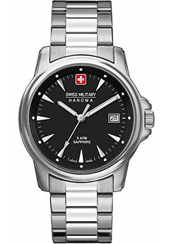 Swiss Military Hanowa Reloj Analógico para Hombre de Cuarzo con Correa en Acero Inoxidable 06-5230.04.007